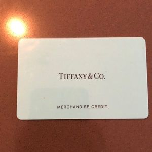 Merchandise credit for Tiffany and Co